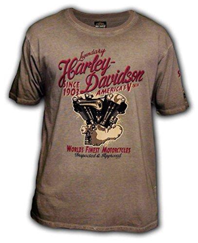 Harley Davidson Racing - Harley-Davidson Men's Pursue Racing Premium Short Sleeve T-Shirt, Cocoa (L)