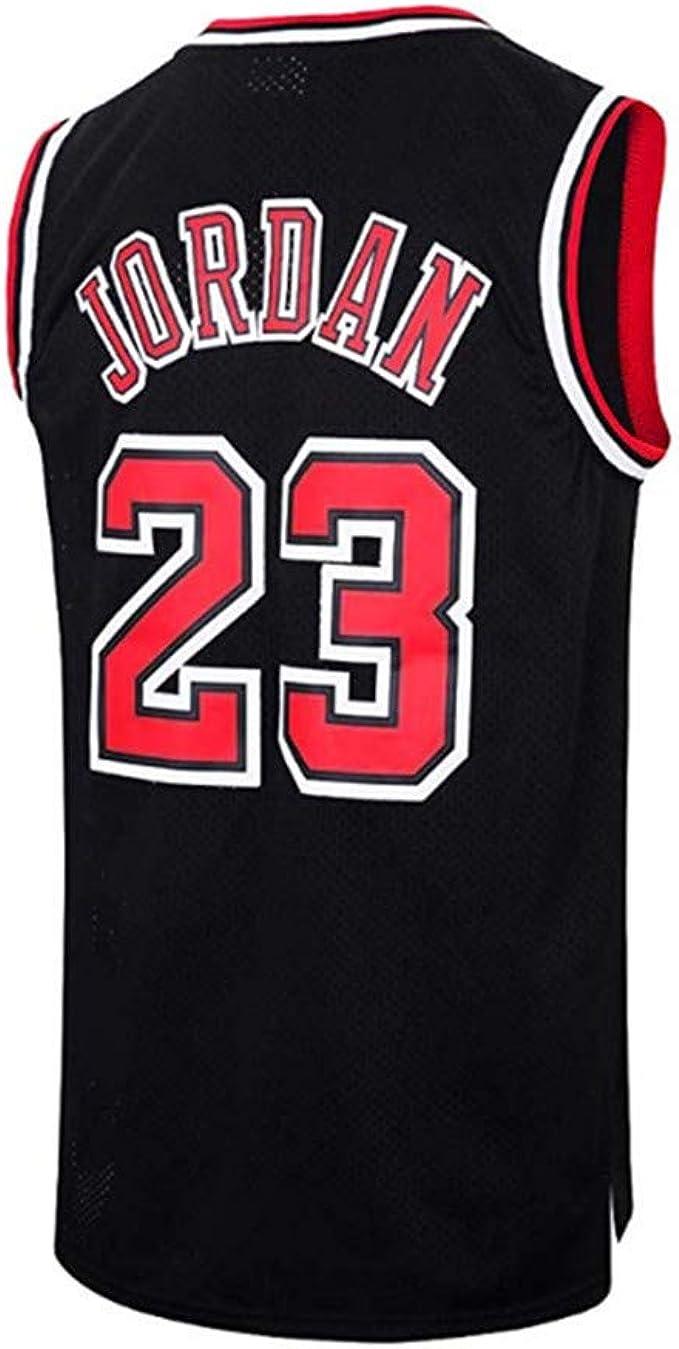 Camiseta De Baloncesto para Hombre El Mejor Jugador De Baloncesto Chicago Bulls Michael Jordan Swingman Camisa De Manga Corta Ropa para Jóvenes Sudadera 4 Colores: Amazon.es: Ropa y accesorios