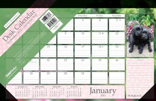 Keith Kimberlin Puppies 2013 Desk Pad Calendar (Pad Puppies Calendar Desk)