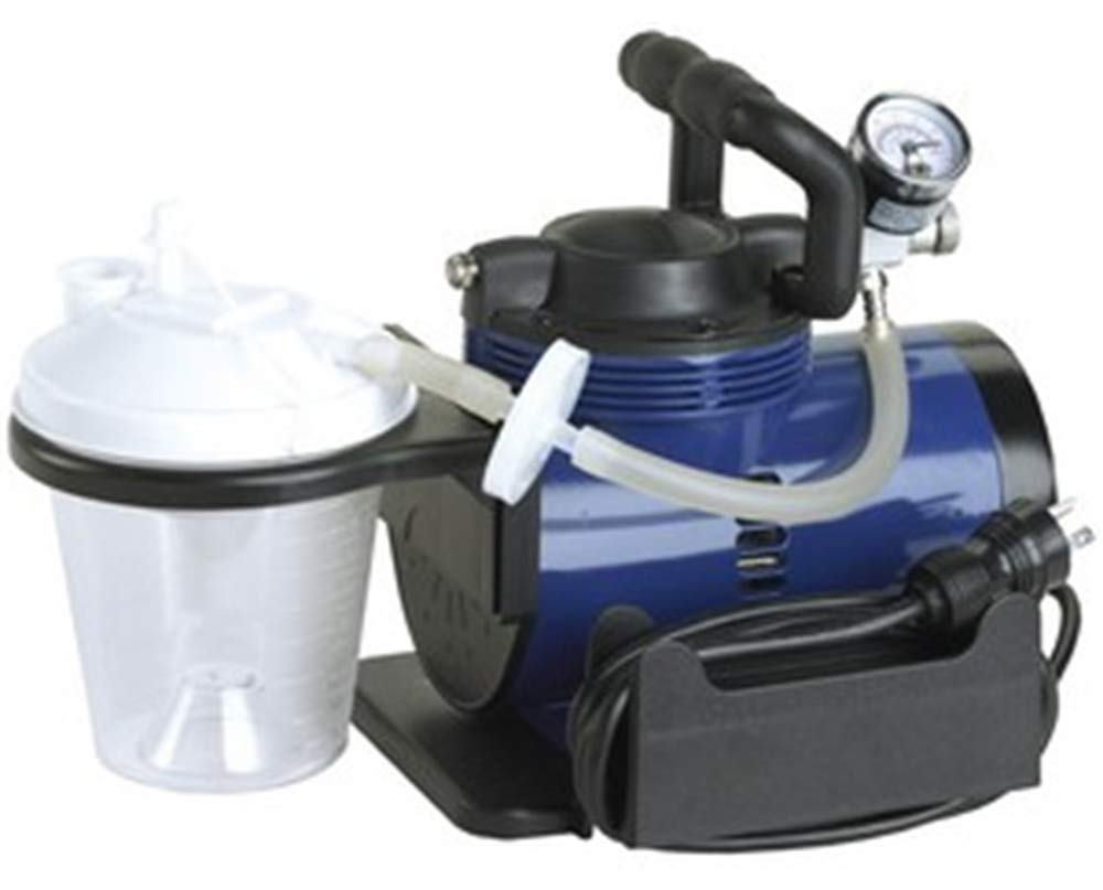 Heavy Duty Mucus Secretion Machine for Home Use Includes 800 cc Suction Canister, 6' Suction Tube, 10'' Suction Canister tubing, Hydrophobic Filter, Plastic Elbow Conn