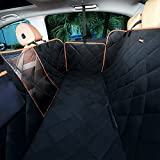 iBuddy Pet Seat Cover for Back Seat of Cars/Trucks/SUV with Side Flaps Mess Window Adjustable Dog Seat Belt Durable Scratch Proof Nonslip Waterproof Machine Washable Pet Seat Covers Hammock
