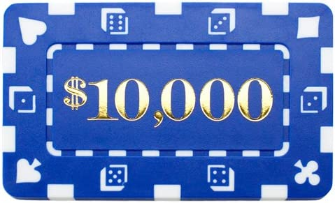 Choose Type! Set of 25 Denominated Rectangular Poker Chip Plaques