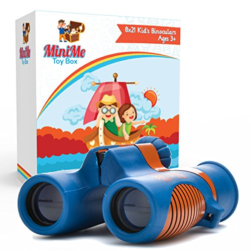 Kids Binoculars Best for Bird Watching, Outdoor Learning, Backyard Safari, and Camping - Shock Resistant 8x21 Magnification - Lightweight, Compact and Easy to Focus, Great Toys for Girls and Boys by MiniMe Toy Box