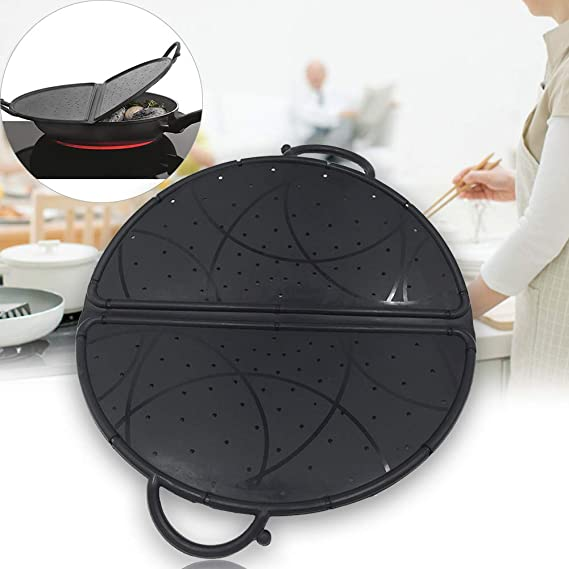Amazon.com: Foldable Colander/Strainer Splatter, Silicone Pot Lids ...