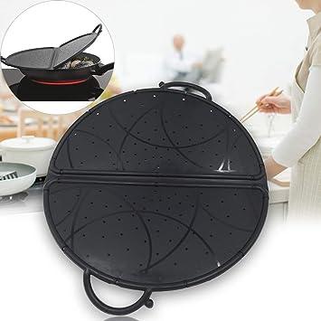 Cubierta de silicona antisalpicaduras, cubierta de salpicaduras de cocina, protector de pantalla plegable para