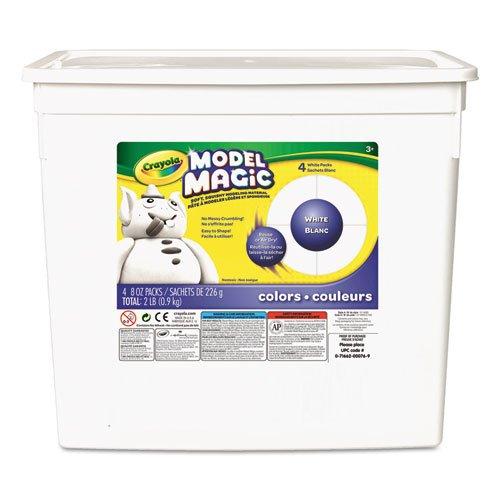 (Model Magic Modeling Compound, 8 oz each packet, White, 2 lbs, Sold as 1 Each)
