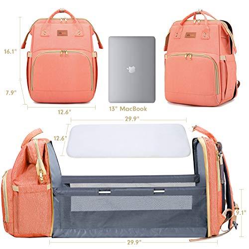 New Baby Gift Set Diaper Bag Backpack Diaper Backpack Diaper Bag Backpack for Girls Diaper Bag Backpack for Boys Coral Diaper Bag