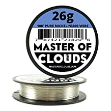 Ni200 - 100 ft 26 Gauge AWG Pure Nickel 200 Non Resistance Wire 0.40mm 26g 100' by Master Of Clouds
