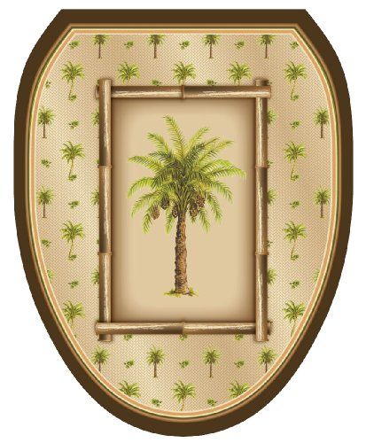 low-cost Toilet Tattoos TT-1018-O Cape Hatteras Decorative Applique For Toilet Lid, Elongated