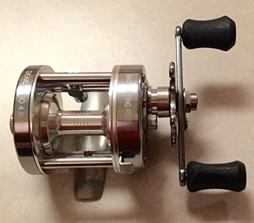 Baitcast Reel Wide Spool (Ming Yang CL25W GunSmoke Baitcast Fishing Reel -Wide Spool - All Brass Gears - Righthanded)