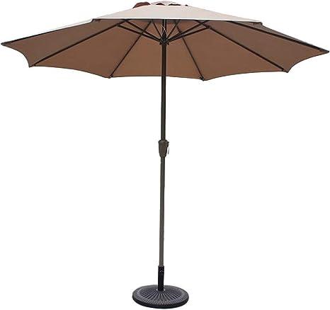 LNDDP Sombrillas 9 , Redondas, Sombrilla para jardín/jardín/Patio, UV70 +, Sombrilla Exterior para terraza terraza o Patio para terraza (Color: Caqui): Amazon.es: Deportes y aire libre
