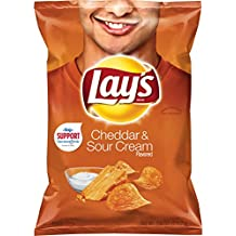 Lay's Cheddar & Sour Cream Flavored Potato Chips, 7.75 Ounce