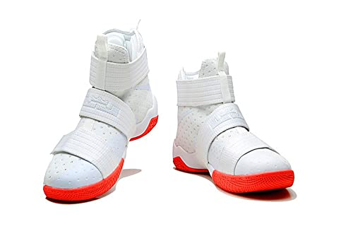 size 40 4026d 3f72e Mens Lebron Soldier X 10 Basketball Shoes White/Red: Amazon ...