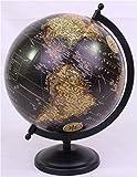 "Hosley's 10.75"" High Black Globe. Ideal Gift or Use for Teacher, College Student, Dorm, Study, Den, Home Office O4"