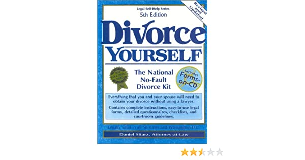 Divorce yourself the national no fault divorce kit with forms on divorce yourself the national no fault divorce kit with forms on cd daniel sitarz 9780935755947 amazon books solutioingenieria Choice Image