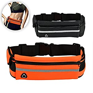 Running Belt for Phone Iphone Waist Pack For Men And Women - Sports Waist Bag Iphone 6 7 8 Plus Pouch With Reflective Stripe - Fanny PackFor Runners Walking Cycling Traveling Orange