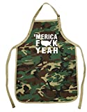 Funny Guy Mugs Merica Fck Yeah Apron with Pockets - Father's Day Gift for Dad - Funny Apron - Perfect for BBQ Grilling Barbecue Cooking Baking Gardening - 4th of July - For the Man Who Has Everything