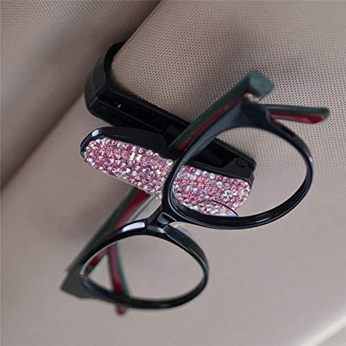 KANKOO Auto-Visier-Gl/äser Auto Sonnenbrillenhalter Auto Sonnenbrillenetui Front Brillenetui Lagerung Kfz-Zubeh/ör 180 /° Drehbar Haltbarer Kunststoff