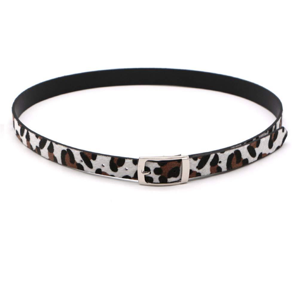 Shuo lan Cinturón de Mujer Leopardo Cinturón Fino Vestido Capa decoración !
