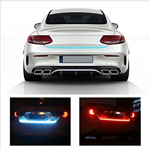 "47/"" RGB LED Car Rear Trunk Strip Light Tailgate Brake Driving Signal Flow Lamps"