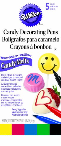 Wilton 609-130 Candy Melt Writing Pen, Primary Color]()