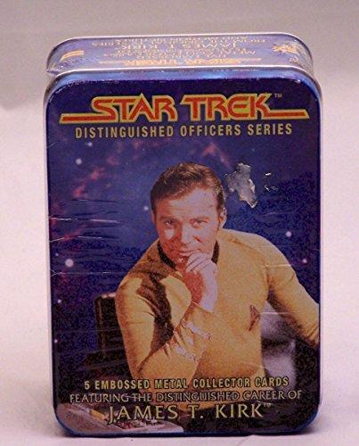 Star Trek Distinguished Officers Series Metal Collector Cards James T Kirk