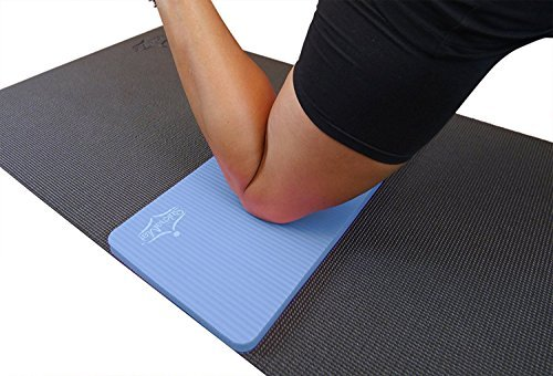 SukhaMat Yoga Knee Pad - New! 15mm (5/8) Thick - The Best Yoga Knee pad for a Pain Free Fitness Exercise Workout. Cushions Pressure Points. Complements Your Full-Size Yoga mat. (Blue)