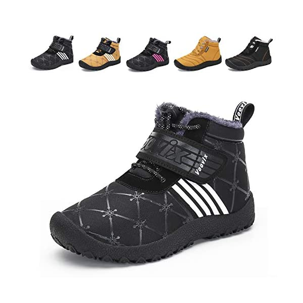 Mishansha Outdoor Ankle Hiking Boots Boys Girls Trekking Walking Shoes with Hook and Loop
