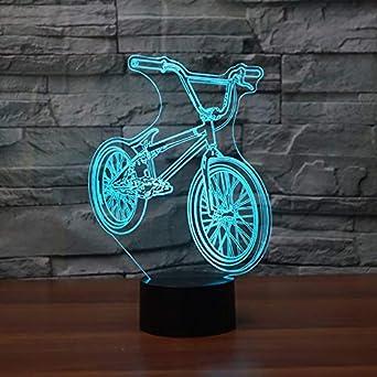 MMLUCK - Luz nocturna LED 3D, luz nocturna BMX, forma de bicicleta ...
