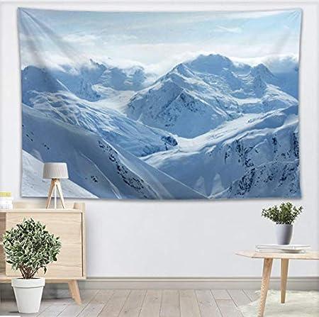 YUYINGXIANG Blanco Nieve montaña Pared Tapiz Decoración para ...
