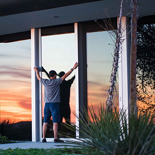 HIDBEA Window Film One Way Privacy Window Film Sun Blocking Heat Control Home Glass Tint House Screen Stickers Mirrored Static Cling Residential Film 35.4''x98.4'', Blue-Silver by HIDBEA (Image #3)