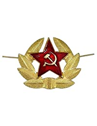 Kokarda Original USSR Soviet Russia Army Military Soldier Red Star Hat pin badge