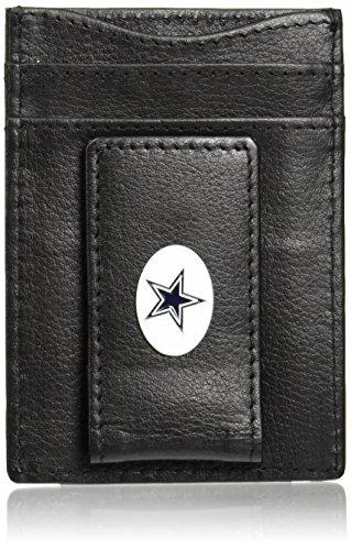 NFL Dallas Cowboys Leather Money Clip Cardholder - Dallas Cowboys Wallet Leather