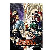 "Bowinr My Hero Academia Poster, Izuku Midoriya Katsuki Bakugou Todoroki Shoto No Fading Art Print Poster (42x30cm) 16.5""x12""( Style 01)"
