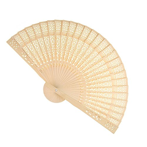 Sandalwood Fan (Set of 36 pcs) - Baby Shower Gifts & Wedding Favors (Wedding Favors Fans compare prices)