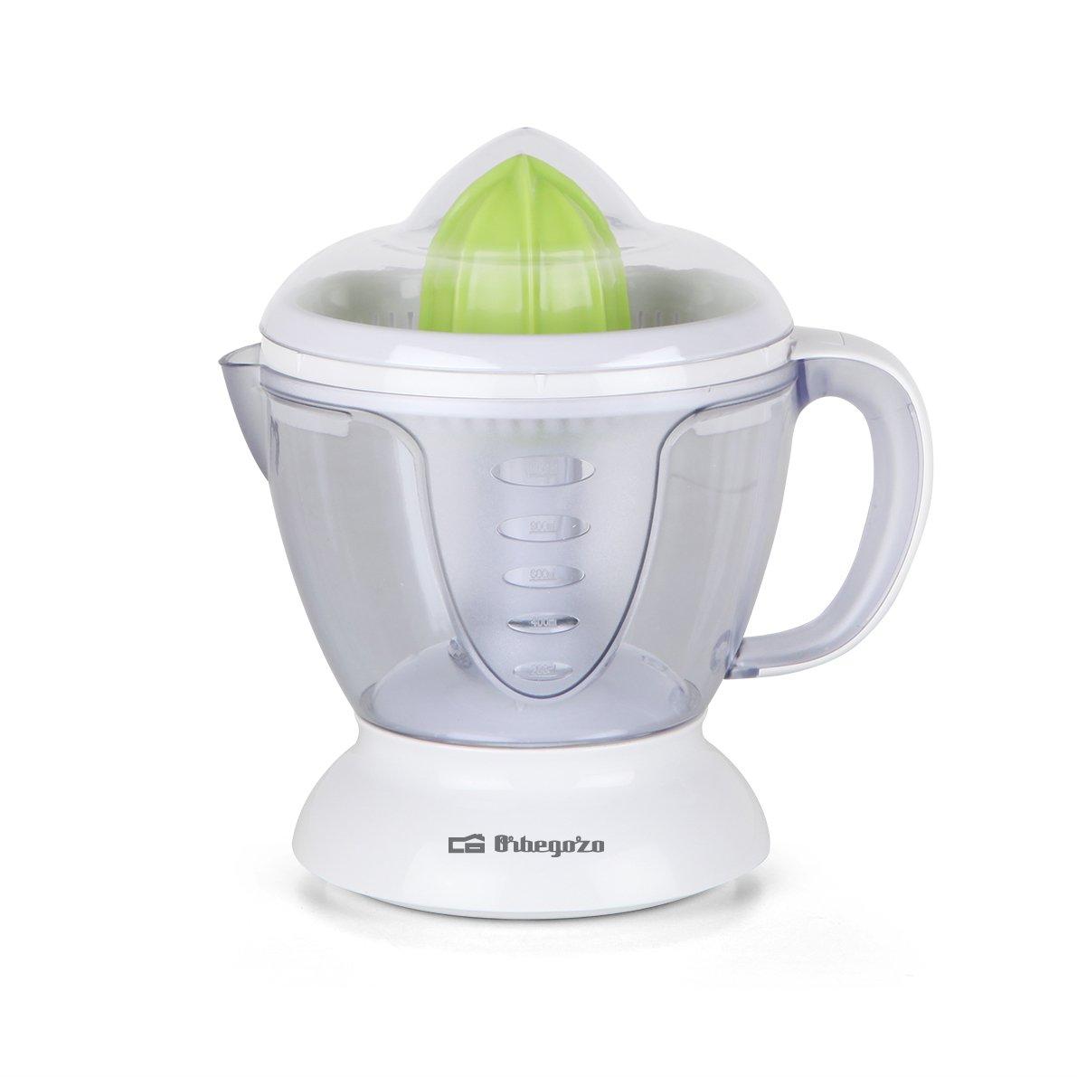 Orbegozo EP 2200 – Exprimidor de naranjas eléctrico de 40 W, 1.2 L, color blanco y verde