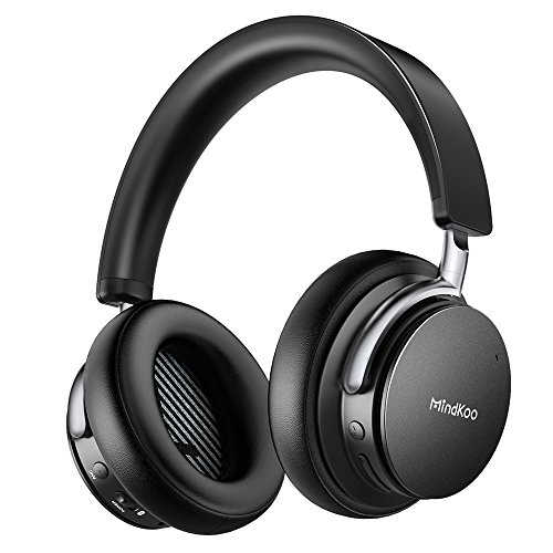 Active Noise Cancelling Wireless Headphones, MindKoo Over Ear Bluetooth Heaphones Headsets with Hi-Fi Powerful Bass, Built-in Mic and 25 Hours Playtime for iPhone, Android, Tablets, Laptops and More