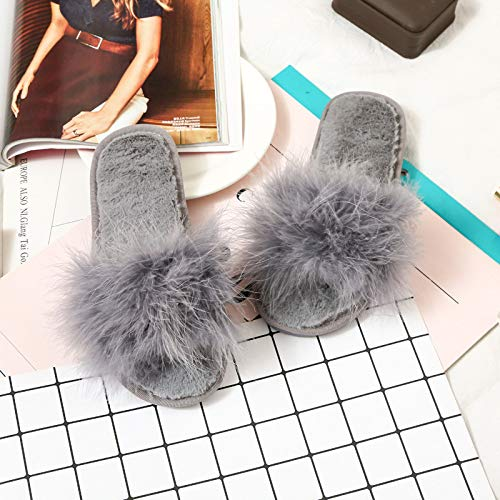 Moda Peluche 40 Jia Casa Mese Da Nuove Di Pantofole Autunno Inverno Hong 41 Donna 39 Scarpe 38 E grey Grey rIZqIX