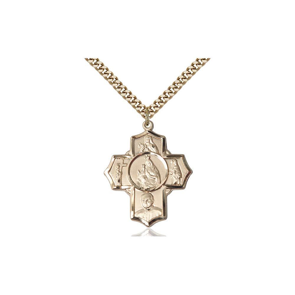 DiamondJewelryNY 14kt Gold Filled Carmelite 4-Way Pendant