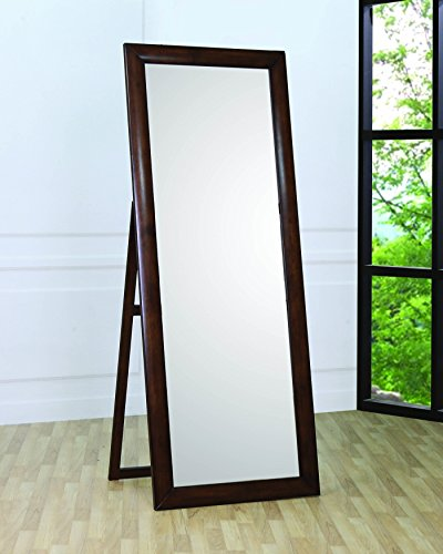 Coaster Home Furnishings 200647 Casual Contemporary Mirror, Walnut by Coaster Home Furnishings