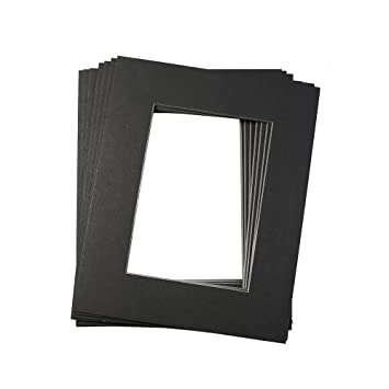 Amazoncom Mat Board Black Picture Mats 10 Pack 5x7 Size With Black