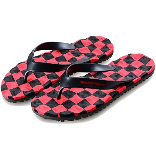 Spiaggia Toe Pantofole Calzature Pantofole Massaggi Sandali Bagno Da Per Scarpe Da Tempo Red Infradito Il Estate Libero Men's Separators fwxnzz