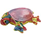 4 Inch Sand Filled Rainbow Glitter Plush Turtle Toy/ Paperweight