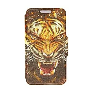 Kinston Tiger Head Pattern PU Leather Full Body Case with Stand for LG G3