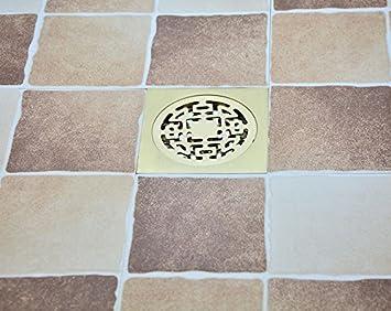 SDKKY Waschmaschine Bodenablauf_alle Kupfer Bodenablauf Badezimmer  Badezimmer Doppelzimmer Bodenablauf Scheibe Anti Vertiefen Stinken Pest,