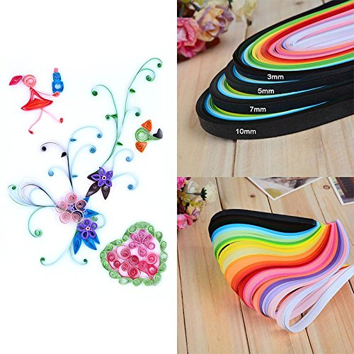 ZHUOTOP 260pc 5mm DIY Paper Quilling Paper Decor Pressure Relief Gift