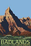 Badlands National Park, South Dakota (12x18 Art Print, Wall Decor Travel Poster)