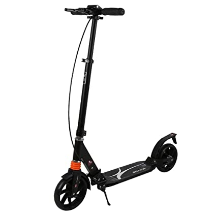 LJHBC Patinete Scooter Plegable para Adultos Freno de Mano ...
