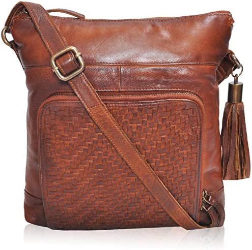 Genuine Leather Crossbody/Crossover Purses and Handbags for Women, Stylish Bags