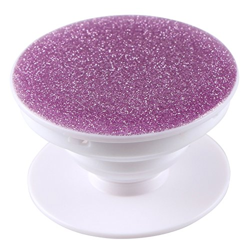 EVERMARKET Premium Expanding Stand Pop Out Grip Mount Holder Sockets for iPhone X, Galaxy S9,all Cellphones and Tablets - Glitter Sparkle Bling Pink - Pop Glitter Out